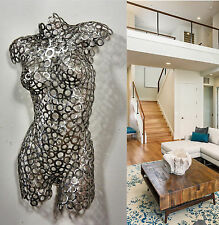 Abstract, Metal Wall Art, original, Female Sculpture, Nude Torso, contemporary