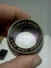 Vintage Wollensak 135 mm F:4.5 Enlarging Raptar Lens