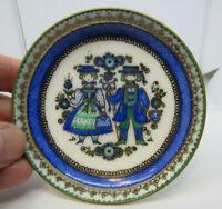 "Vintage Arta Austria Enameled Enamel on Copper Trinket Bowl Handmade 3 1/2"" dia"