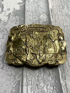 Vintage , Western ,Texas Rangers Metal Belt Buckle