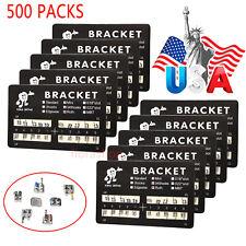 New Listing500 Pack Dental Orthodontic Brackets Braces Mini Roth Slot022 3 4 5 Hooks 2