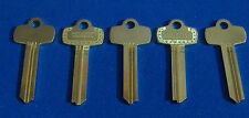 "LOT OF FIVE NICKEL SILVER LOOKS LIKE BEST KEY BLANKS FOR "" TB ""  KEYWAY"