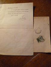 FRANCESCO SAVERIO NITTI lettera  manoscritta Autografo con busta 1908