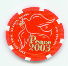$5 Hard Rock 2003 Christmas ChiP Dove Bird Nice Red Chip
