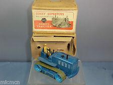 DINKY SUPERTOYS modello No.563 vibrofinitrice Knox Trattore Pesante (Mega RARO Blu) VN Nuovo di zecca con scatola