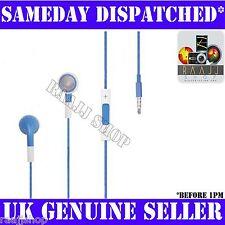 Azul Auriculares Auriculares Manos Libres Con Volumen Y Micrófono Para Iphone 3gs 4 4s 5 Ipad