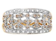 Genuine Diamond Ring Solid 14k Yellow Gold