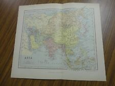 Nice color map of the Asia. Printed 1888 by Chambers.