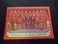 1973-74 OPC O-Pee-Chee #96 Chicago Black Hawks team card  - ex - dark back