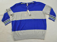 women's JP Penny light weigth sweater royal blue striped size XL long sleeve