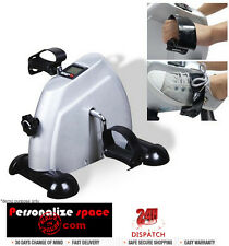 Mini LCD Exercise Cycle with 2kg Flywheel- Gray Tension Adjustable Pedal Loop