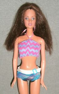 VINTAGE 1990'S Pretty TERESA Doll ~ DRESSED in a MISS-MATCHED SWIMSUIT ~ OOAK