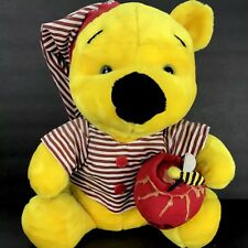 Disney Sleepytime Pajama Winnie The Pooh Honey Pot Plush 18 inches Vtg Stuffed