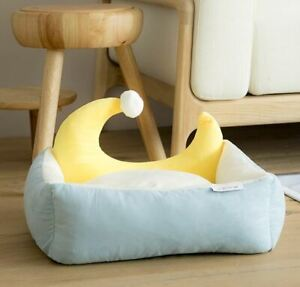 Pet Dog Cat Sofa Bed House Cushion Bed Indoor Mat Cover Remoable Moon Shape
