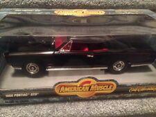 1:18 Ertl American Muscle Black 1966 Pontiac Gto Item 7292