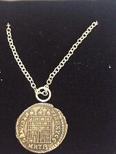 "Constantine Coin WC26 Made From English Pewter On 24"" Silver Plated Necklace"