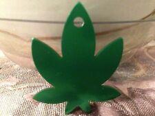 Marijuana Charm Personalized Pet Tag Dog & Cat Tag Deep Engraving Cannabis Tag