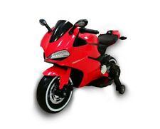 Moto  Elettrica per Bambini  MOTO STRADALE 12V sedile in pelle ROSSO