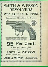 1898 SMITH & WESSON AD ~ .32 CALIBER SAFETY BICYCLE REVOLVER