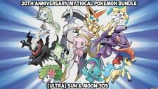 20th anniversary  Pokemon Mythical Bundle Collection-(Ultra) Sun/Moon Guide 100%