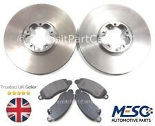 PAIR OF FRONT BRAKE DISCS AND PADS FITS FOR FORD TRANSIT MK6 2000-2006 RWD