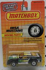 11 IMSA RACING FORD BLACK MUSTANG SSCA MACH 1 1988 1983 MB MBX MATCHBOX