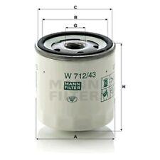 Mann Oil Filter Spin On For Ford Escort 1.1 1.3 1.4 1.6 1.6i 1.6 XR3i