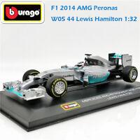 BBurago 1:32 F1 2014 BENZ AMG Peronas W05 No.44 Lewis Hamilton Diecast Racing