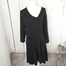 New NY Collection Black Knit Sweater Faux Wrap Women's Dress Plus Size 3X NWT