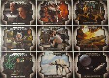 Star Wars 2017 MASTERWORK Card set of 10 Evolution Of The Rebel Alliance LP1-10