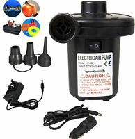 Electric Air Pump for Fast Inflator Camp Air Bed Mattress etc Car Home UK Plug