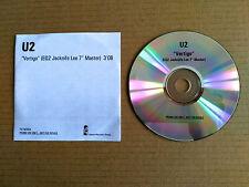 """U2  VERTIGO PROMO DEMO VERTIGO (EQ2 Jacknife Lee 7"""" Master) 3'08 Cdr Island U2"""