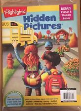 Highlights Hidden Pictures Bonus Stickers Back To School 2015 FREE SHIPPING!