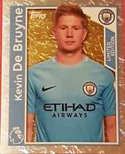 186LE Kevin de Bruyne MAN CITY 2018 Topps Merlin Premier League stickers foil