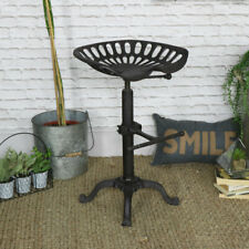 Adjustable Vintage Tractor Seat Bar Stool Rustic Cast Iron Industrial Chair
