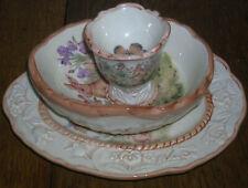 Cracker Barrel Easter Treasures Bunny Birdhouse Plate, Oval Bowl, Egg Holder