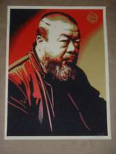 Shepard Fairey Ai Weiwei Obey Giant signed numbered screen print poster