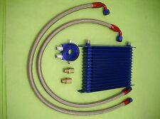 Burstflow Universal Nachrüstsatz Kit Ölkühler blau 15 Reihen AN10 Motorsport