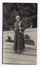 PHOTO ANCIENNE Portrait d'un religieux curé prêtre Religion Vers 1930 Pèlerin ?