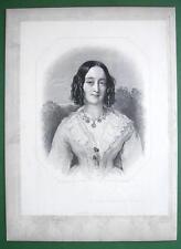 QUEEN VICTORIA'S Court Beauty Duchess of Buccleugh - SUPERB Antique Print