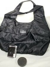 NWT Six Pack Fitness Asana Travel Meal Prep Black Taffeta Nylon Tote Bag Fit