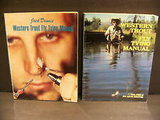 Jack Dennis Western Trout Fly Tying Manual + Volume Ii Soft Cover 2 Books