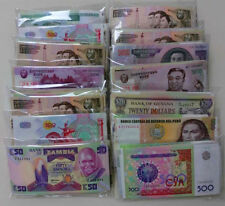 NEW Paper Money 100 World Banknotes UNC high quality ,All Genuine, UNC