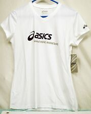 "Asics Women's ""SOUND MIND,SOUND BODY Short Sleeve V-neck T-shirt  Size Small*NWT"