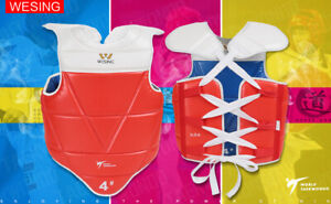 Wesing Taekwondo Chest Protector Chest Guard WTF Approved NEW