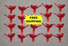 Ceramic Christmas Tree 20 Medium Red Detailed Turtle Dove Bird Bulbs *Free Ship*