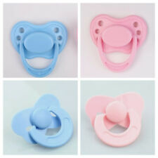 Push In & Magnetic Pacifier / Dummy / Soother 4 Play / Reborn Dolls Pink & Blue