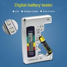 Universal Digital LCD Battery Tester Checker C D N AA AAA 9V 1.5V Button Cell