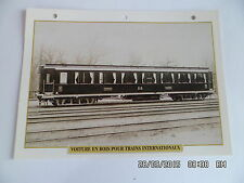 CARTE FICHE TRAIN VOITURE EN BOIS POUR TRAINS INTERNATIONAUX