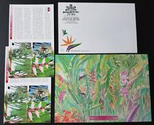 1999 Malaysia Heliconia Flower Plant (Stamp Week) Blank FDC paired covers.